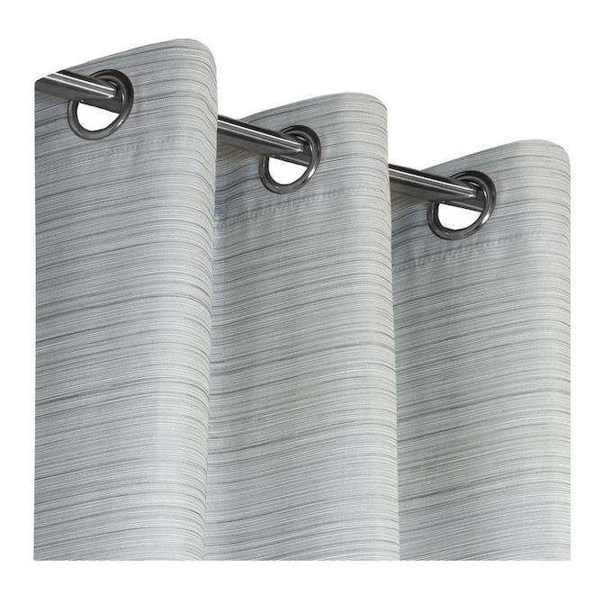 Safdie & Co Blackout Curtain Panels - Jacquard - 54-in x 84-in - Charcoal - Set of 2