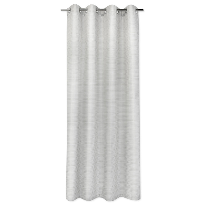 Safdie & Co Blackout Curtain Panels - Jacquard - 54-in x 84-in - Natural-Taupe - Set of 2