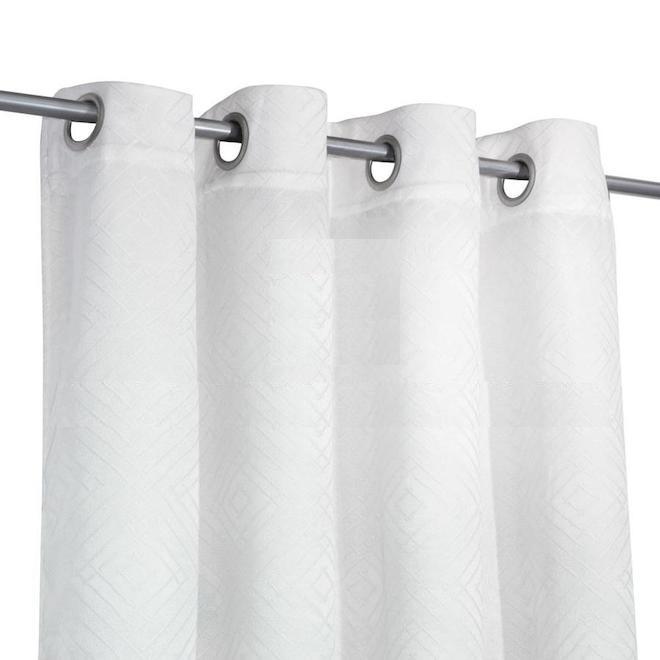 Rideaux coupe-lumière Safdie & Co, jacquard, 54 po x 84 po, blanc, ensemble de 2