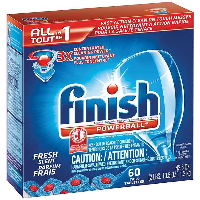 Finish Powerball - Dishwasher Detergent - 60 Tabs