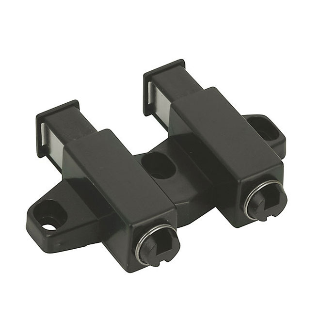Double Automatic Magnetic Latch - 32 mm - Black