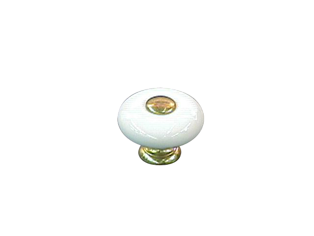 Ceramic Knob Brass