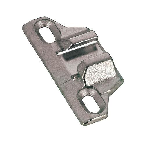 Plaque de montage frontale à rebord, zinc