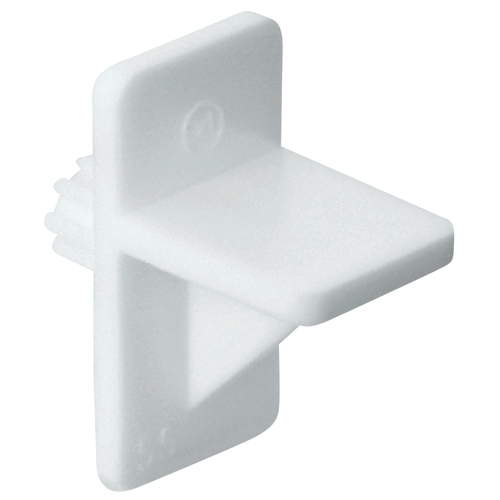 "Plastic Shelf Pin - 1/4"" - White - 100-Pack"