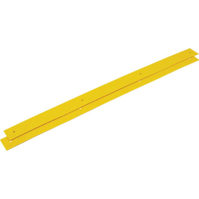 """Anti-Slip Strip 2"""" x 32""""- Plastic - Yellow - Pack of 2"""