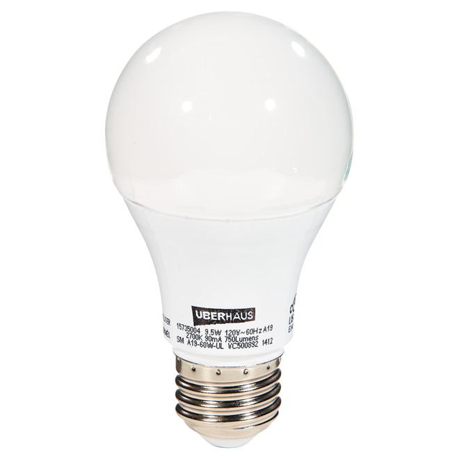 9.5-W A19 LED Bulb - Pack of 2