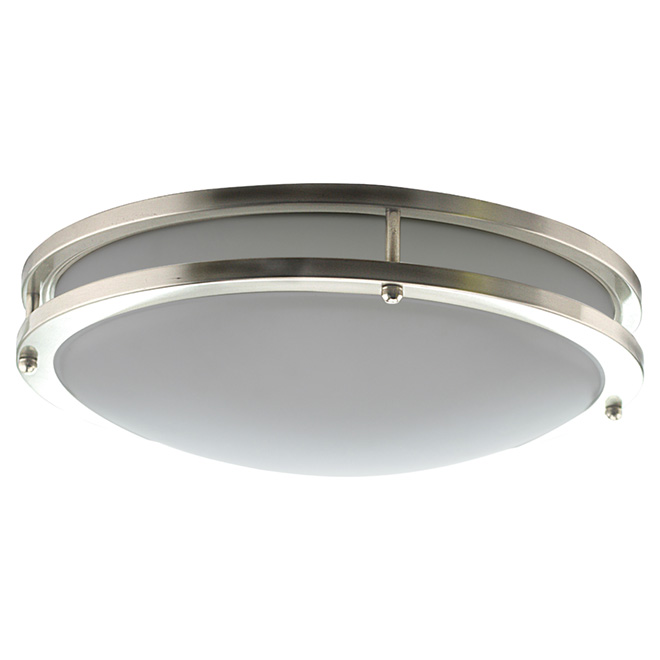 Led flush mount light 20 w 14 silver
