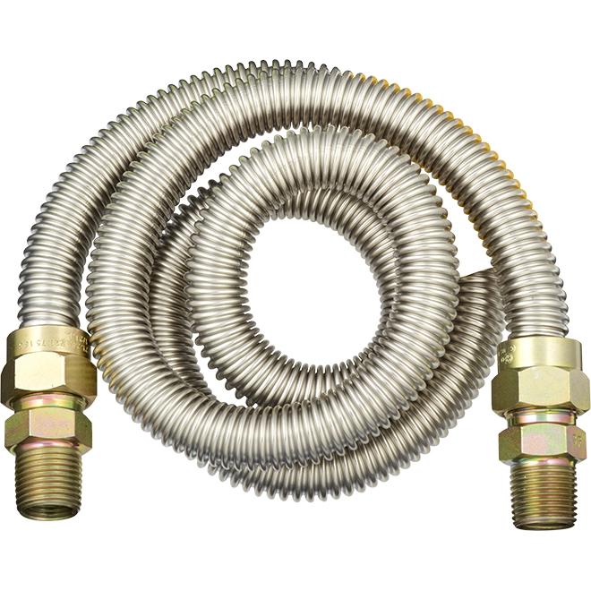 """Connecteur pour four au gaz, 1/2"""" x 1/2"""" x 48"""", MIP x MIP"""