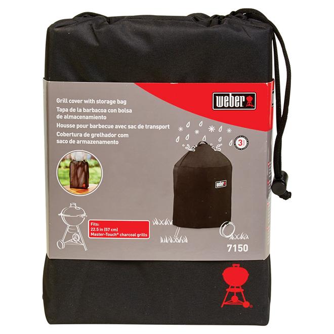 Housse pour gril Weber Master-Touch, sac de rangement, nylon noir