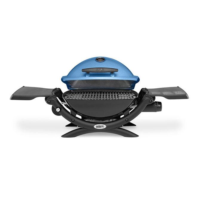 Barbecue portatif au gaz propane liquide, Weber Q1200, 189 po², bleu