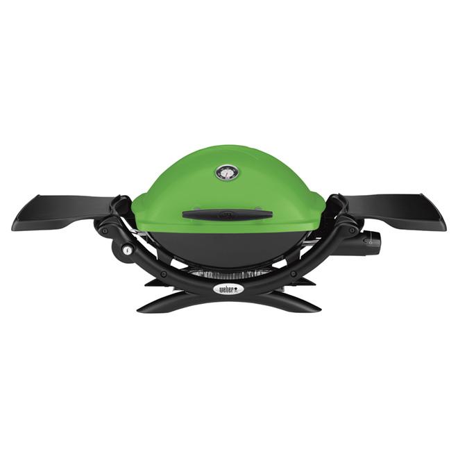 Barbecue portatif au gaz propane liquide Weber Q1200, 189 po², vert