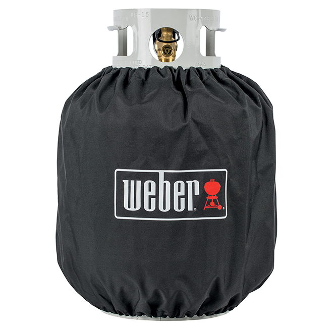 Housse Weber pour bonbonne de propane, polyester, noir