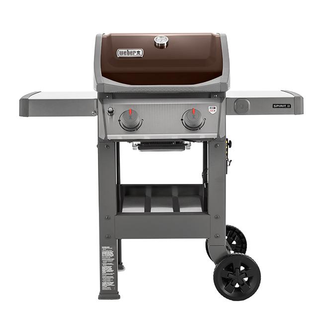 Barbecue au gaz propane liquide Weber Spirit II E210, 26 500 BTU, mocha