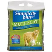 Simplicity Plus+ Multi-Cat Litter - 15 kg