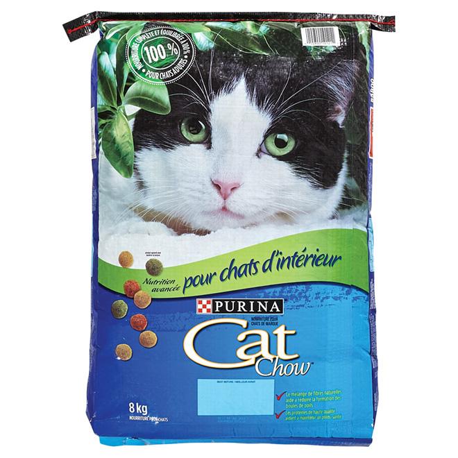 Nourriture sèche pour chat d'intérieur, sac de 8 kg