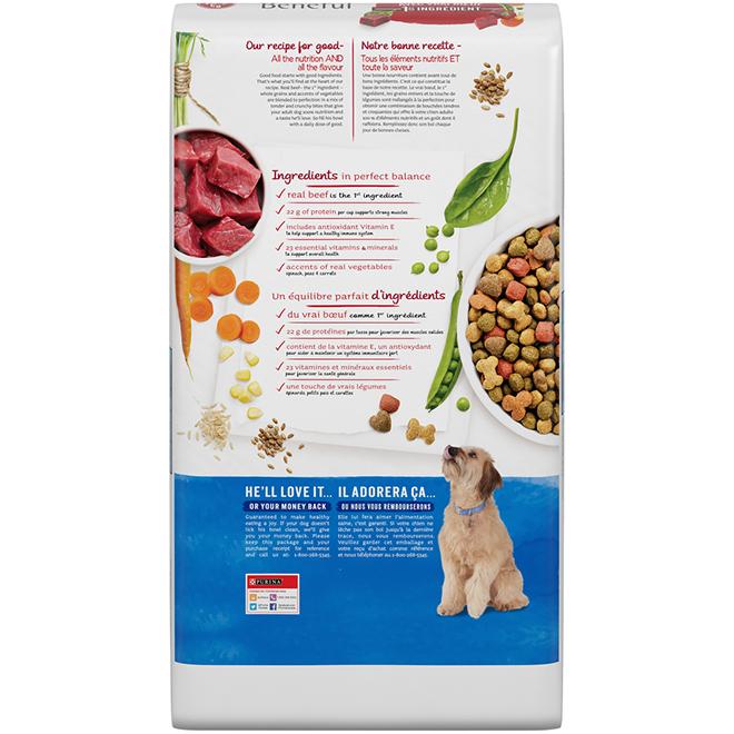 Nourriture sèche pour chien, Beneful, 12,7 kg, boeuf