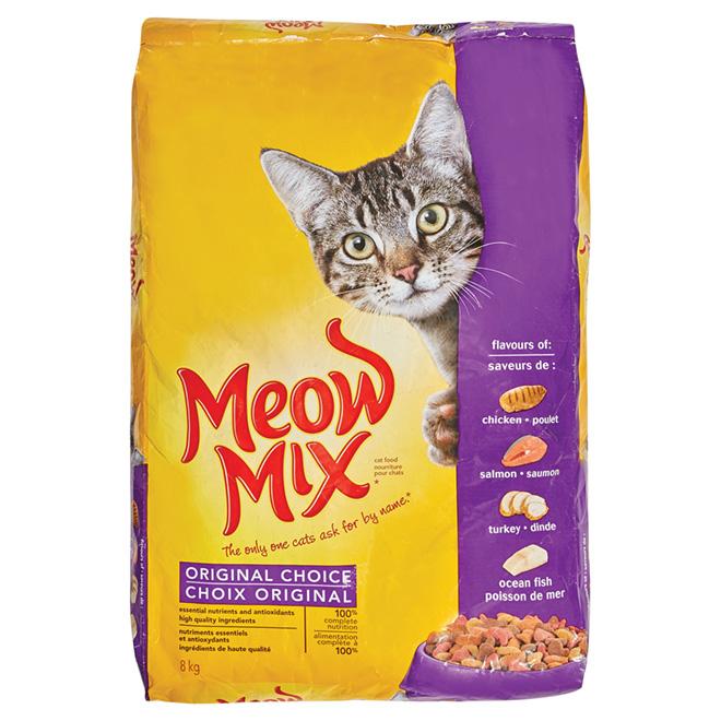 Nourriture pour chat Meow Mix, 8 kg