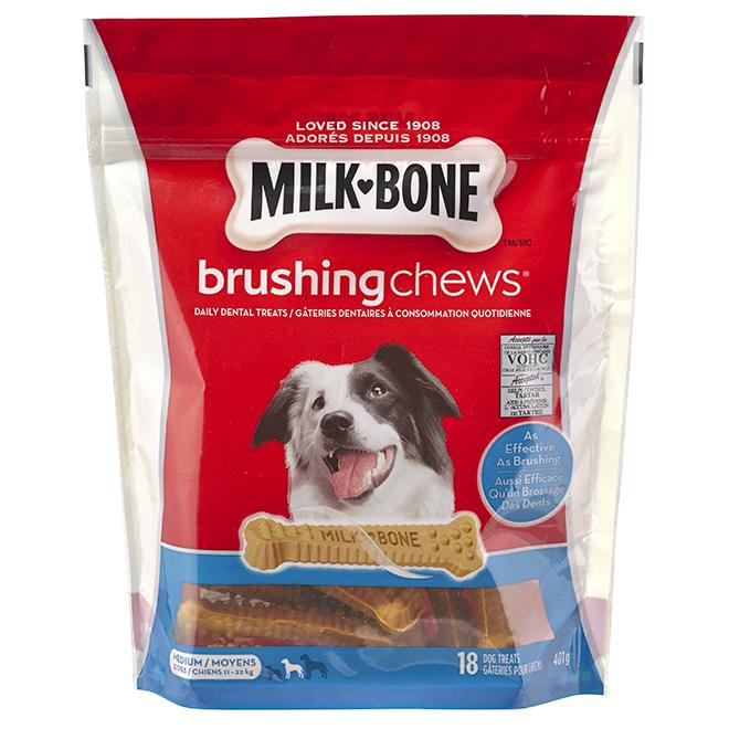 Milk-Bone Brushing Chews - 18 PK - Medium Dogs