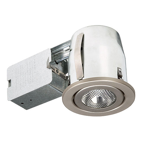 "Swivel Recessed Fixture - 3 7/8"" - Satin Chrome"