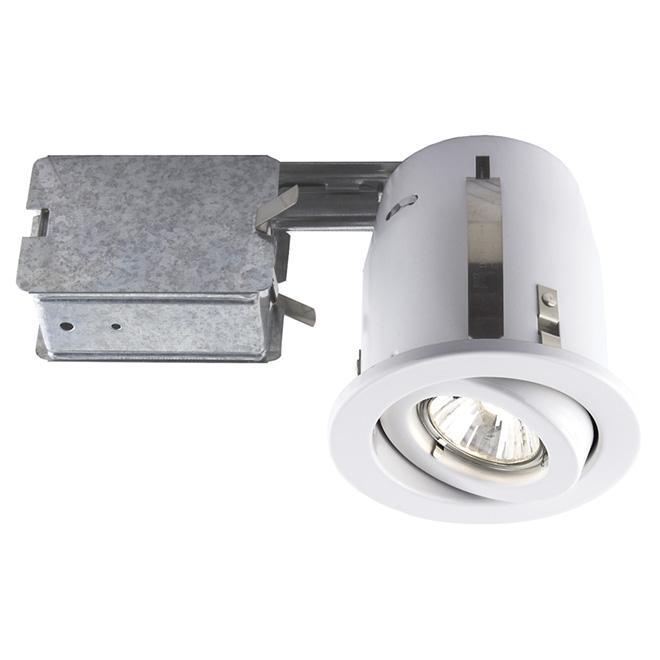 Luminaire halogène à encastrer Bazz, GU10, blanc