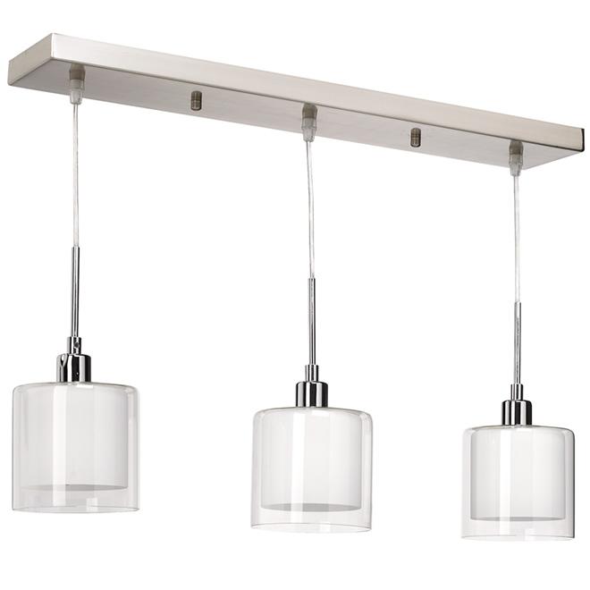 3 luminaires suspendus