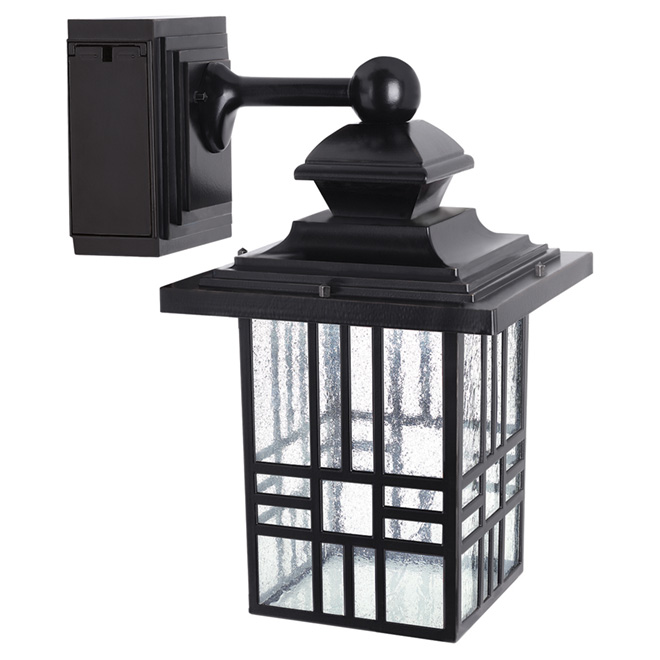 Led wall lantern with gfci outlet rona led wall lantern with gfci outlet mozeypictures Images