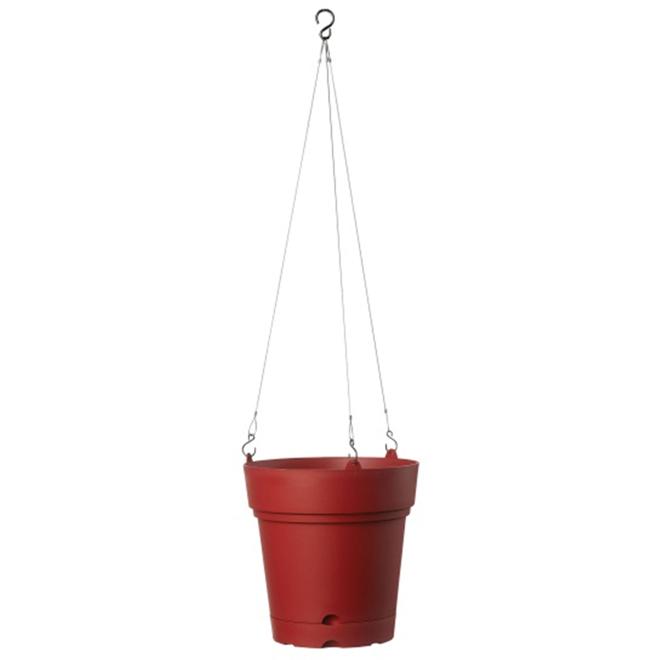 """Hanging Planter Pot - Samba - 8 3/4"""" - Red"""