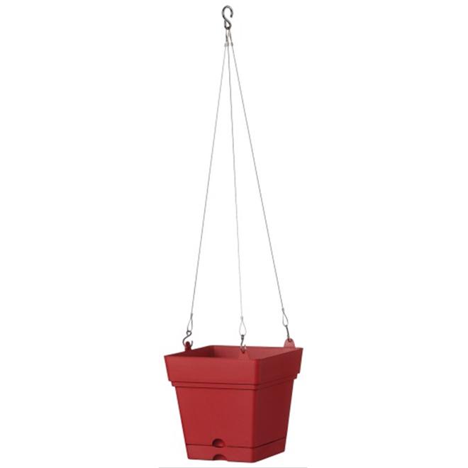 """Hanging Planter Pot - Samba - 7"""" - Red"""