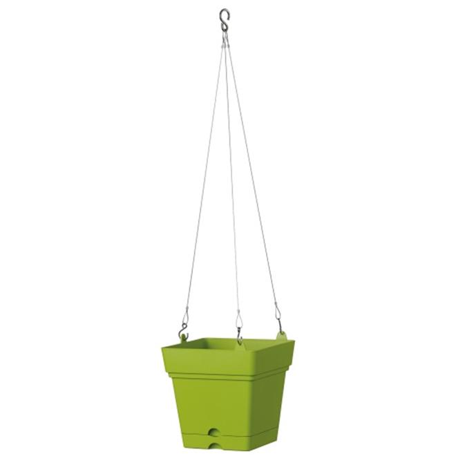 """Hanging Planter Pot - Samba - 7"""" - Green"""