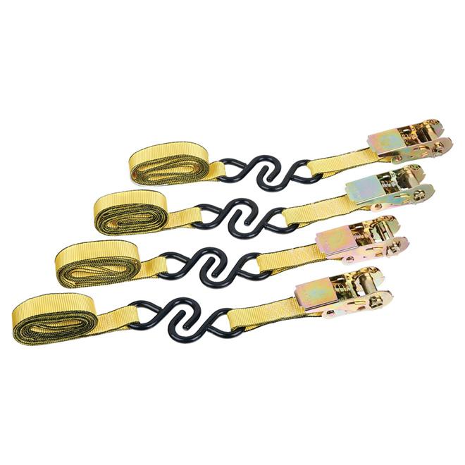 Ratchet Tie-Down - 1'' x 10' - 900 lb - 4/PK
