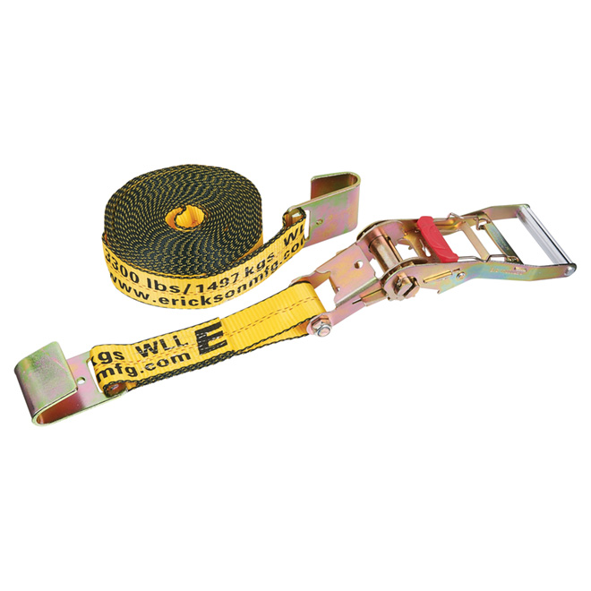Ratchet Strap with Handle/Flat Hooks - 2'' x 30' - 10000 lb