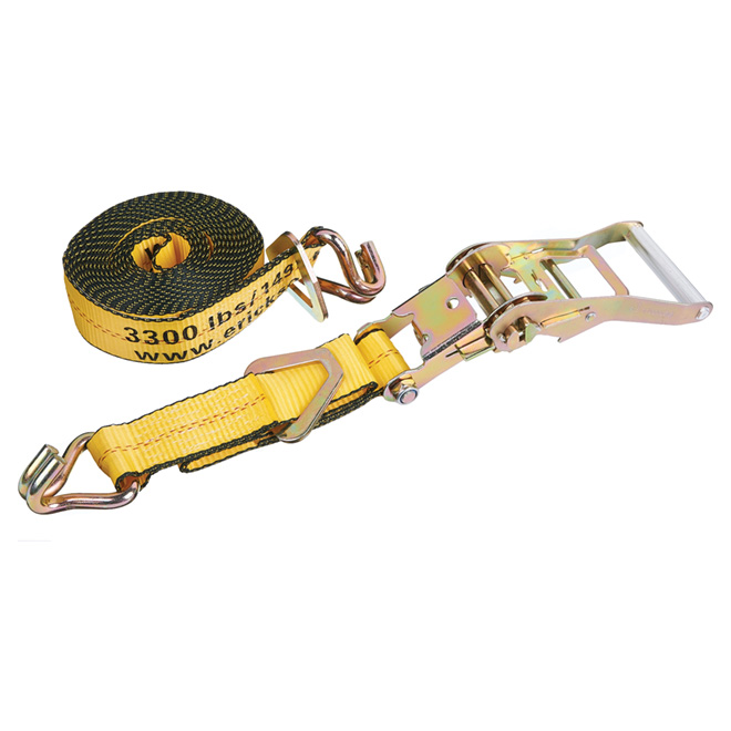 Ratchet Strap with Floating D Ring - 2'' x 20' - 10000 lb