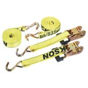 Ratchet Strap - 1.5', x 15'' - 5500 lb - 2/Pack