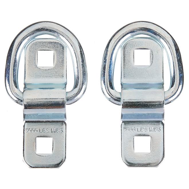 Flip Up Anchor Ring - Steel - 5000 lb - 2-Pack