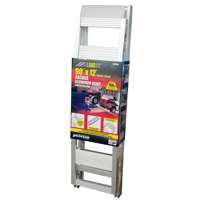 "Arched Loading Ramp - Aluminum - 12"" x 90"""