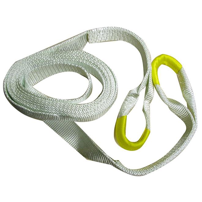 Recovery Strap - 1'' x 15' - White - 7 500 lb