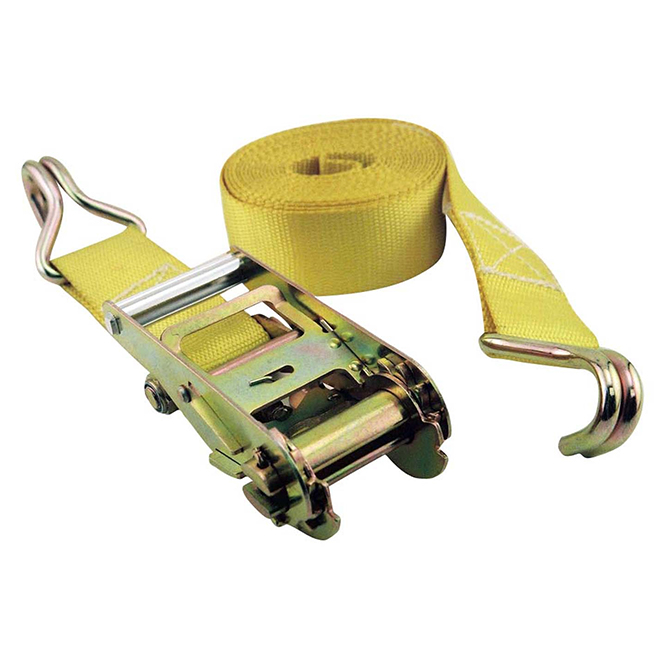 Heavy Duty Tie Down Strap - 2'' x 25' - Yellow