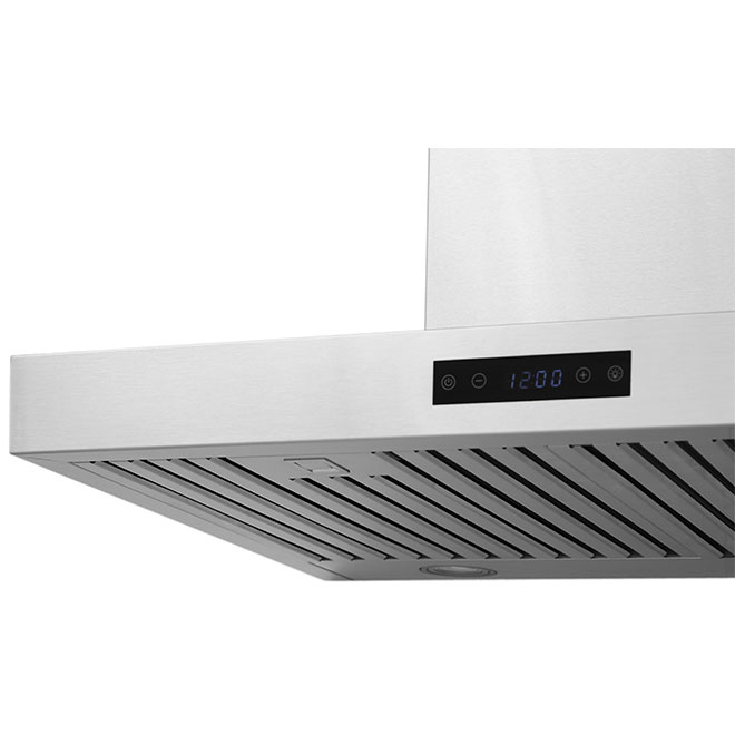 Mistral Wall Mount Chimney Style Range Hood - 600 CFM - 30-in - Stainless Steel