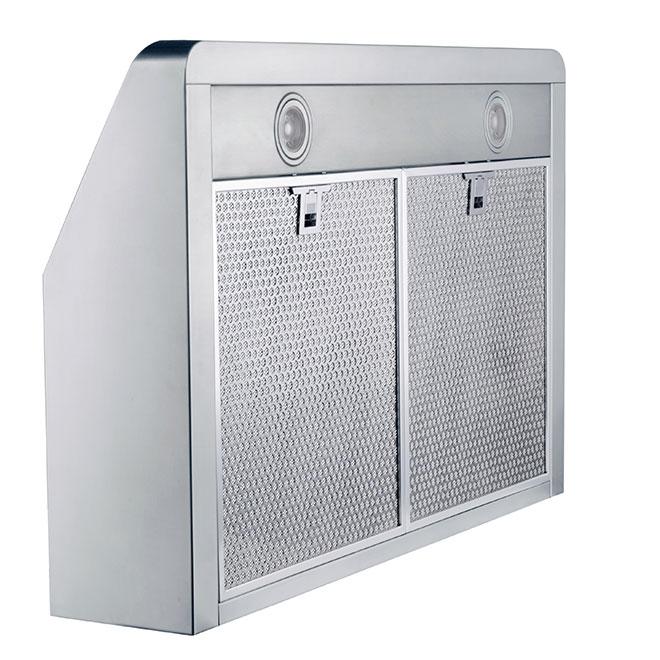 Hotte de cuisine sous-armoire Mistral, DEL, 30 po, 420 PCM, inox