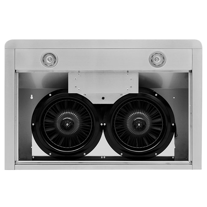"""Hotte de cuisine sous-cabinet, 30"""", 420 PCM, inox"""