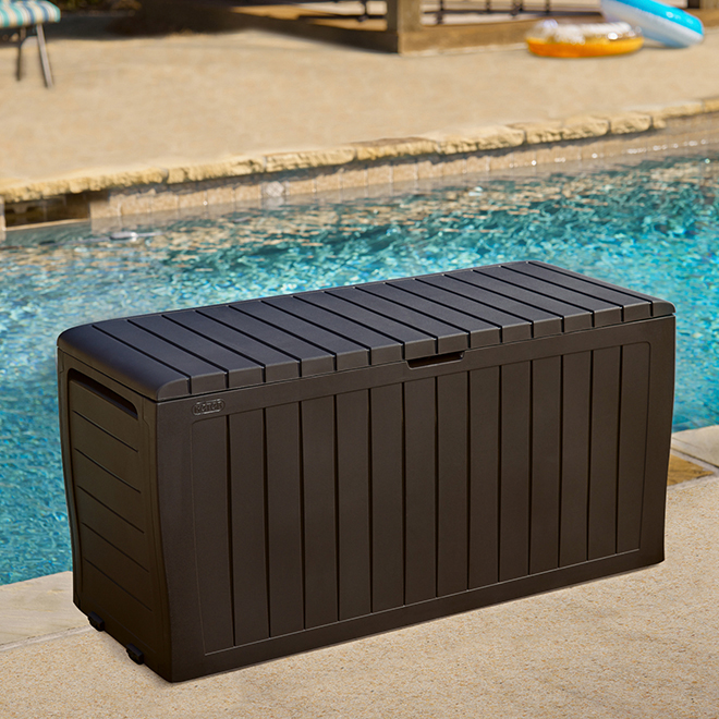Marvel Deck Box - Plastic - Dark Brown - 70 gal.