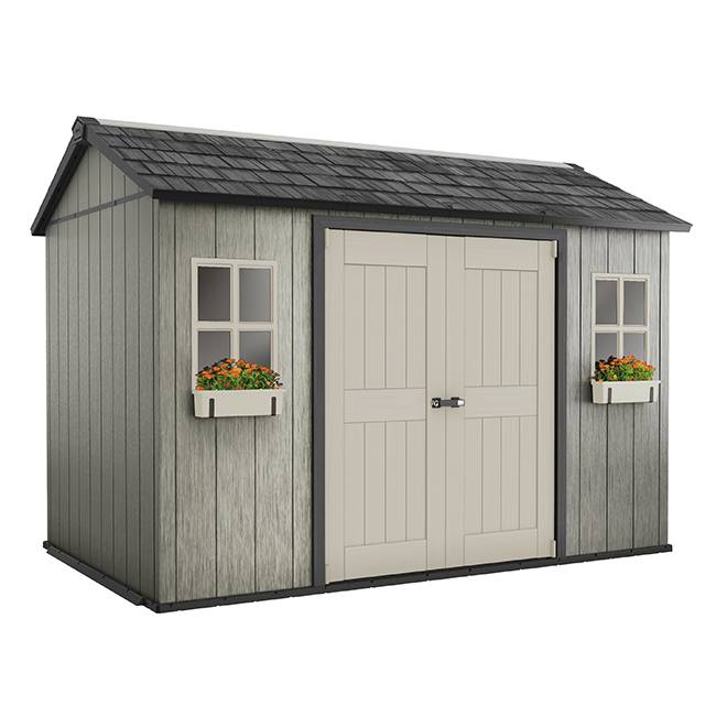 My Shed Polypropylene Garden Shed - 11' x 7 1/2' - Grey