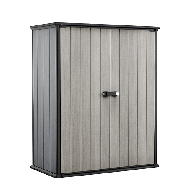 Keter High-Store Garden Shed - Resin - 4.7' x 2.5' - Grey