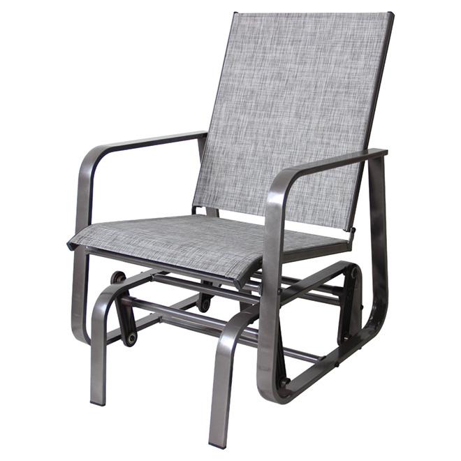 rocking patio chair manhattan taupe rona