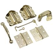 Brass Finish Screen Door Hardware Kit