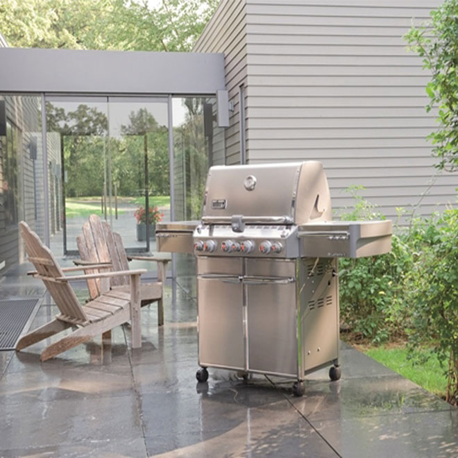 Weber Summit S-470 Liquid Propane Gas BBQ - 88,800 BTU - 580 sq in - Stainless Steel