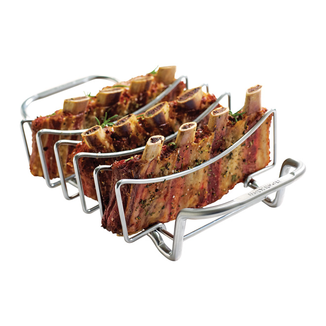 Barbecue Rib Rack - Stainless Steel