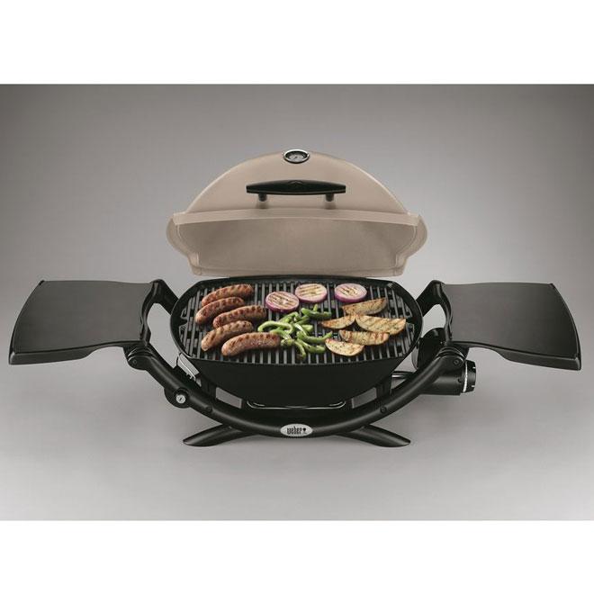 Barbecue portatif au gaz propane Weber Q(MD) 2200(MC), titane