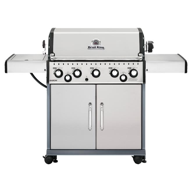 Propane Gas BBQ - 805 sq in - 75,000 BTU - Stainless Steel