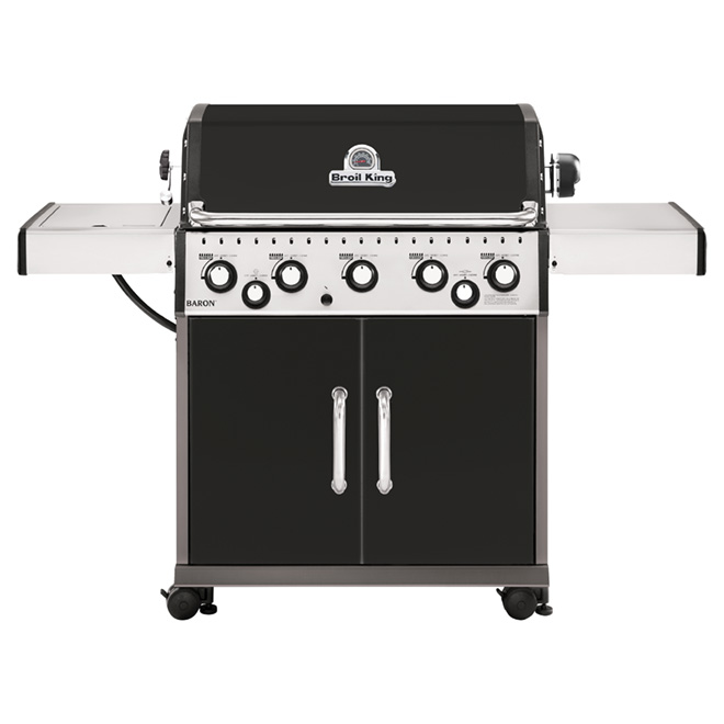 Propane BBQ - Baron 590 - 5 Burner - 805 sq. in. - 75,000 BTU - Black